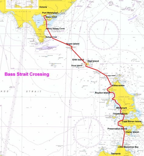 Bass Strait Map jpg